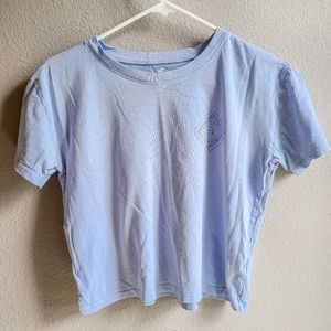 Holister California Pastel Blue Cropped Tee